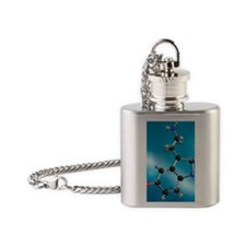 Serotonin neurotransmitter molecule Flask Necklace