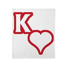 Kappa Sweetheart Outline Throw Blanket