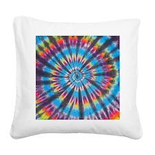 Tie Dye Square Canvas Pillow