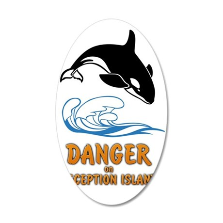 Danger on Deception Island  35x21 Oval Wall Decal