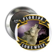 """Florida Lone Wolf Pack Logo 2.25"""" Button"""