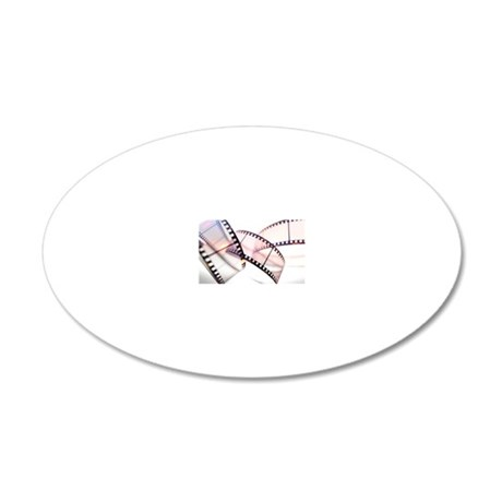 Photographic film 20x12 Oval Wall Decal