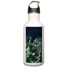 Virus particles, artwo Water Bottle