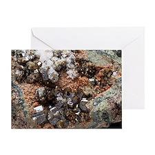 Vesuvianite mineral sample Greeting Card