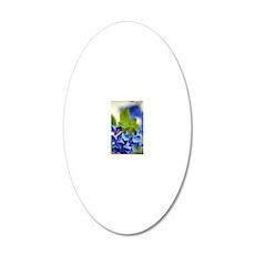 Virginia Bluebells (Mertensi 20x12 Oval Wall Decal