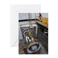 Tunnelling a sewerage pipe Greeting Card