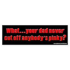 Sopranos - Cut Off Pinky Bumper Bumper Sticker