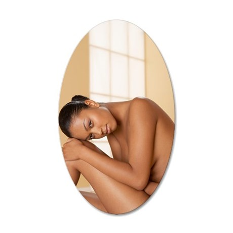 Nude woman 35x21 Oval Wall Decal