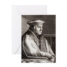 Thomas Cromwell, English statesman Greeting Card