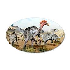 Therizinosaurus dinosuars 35x21 Oval Wall Decal