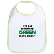 Green Diaper Bib
