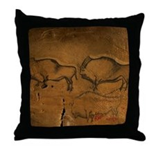 Stone-age cave paintings, Asturias, S Throw Pillow
