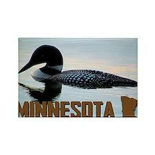 Minnesota Loon Postcard Rectangle Magnet