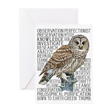 dictowl Greeting Card