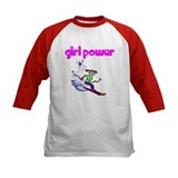 Girl Power Skiing Kids Athletic Jersey