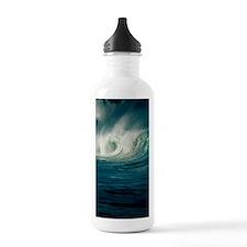 Wind-blown wave breaki Water Bottle