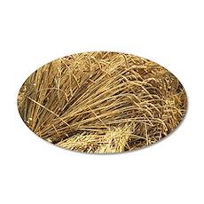 Wheat sheaves 35x21 Oval Wall Decal