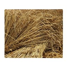 Wheat sheaves Throw Blanket
