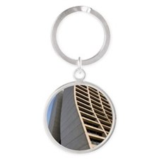 Wilson Hall at Fermilab Round Keychain