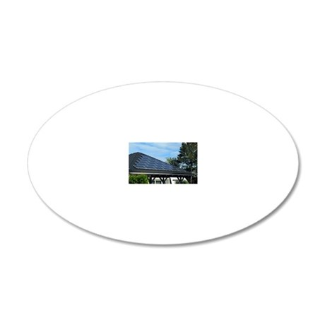 Solar panels 20x12 Oval Wall Decal