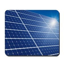 Solar panels in the sun Mousepad