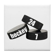 Hockey Nuts Tile Coaster