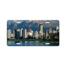 View of Vancouver, Canada Aluminum License Plate