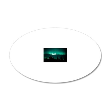 View of an aurora borealis d 20x12 Oval Wall Decal