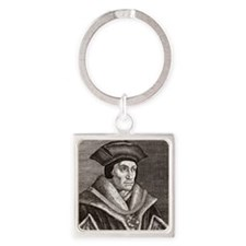 Sir Thomas More, English statesman Square Keychain