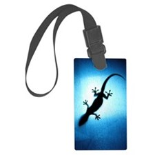 Silhouetted gecko Luggage Tag