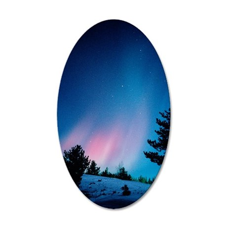 View of a spectacular aurora 35x21 Oval Wall Decal