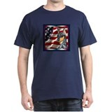 Miniature Pinscher US Flag Dark Colored T-Shirt