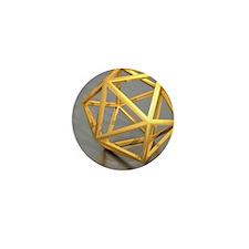 Icosahedral structure, artwork Mini Button