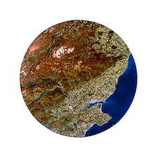 """True-colour satellite image of northea 3.5"""" Button"""