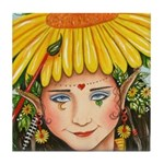 The Elf Artist Tile Coaster