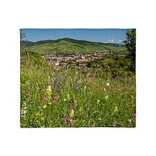 Romanian village Throw Blanket