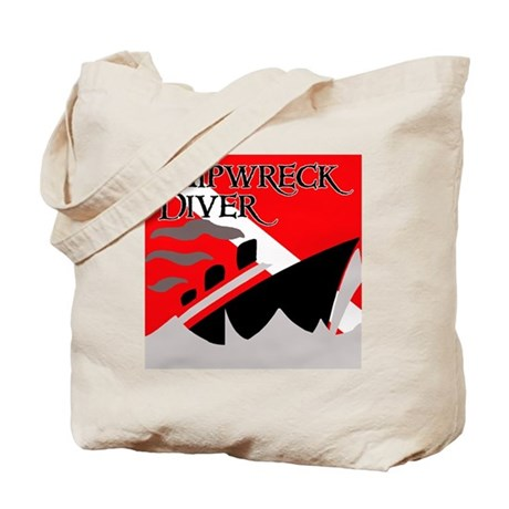 Shipwreck Diver Flag Tote Bag