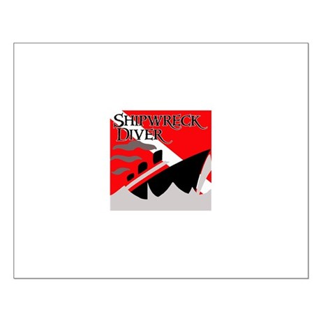 Shipwreck Diver Flag Small Poster
