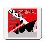Shipwreck Diver Flag Mousepad