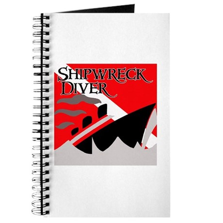 Shipwreck Diver Flag Journal