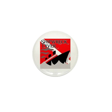 Shipwreck Diver Flag Mini Button