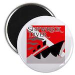"""Shipwreck Diver Flag 2.25"""" Magnet (10 pack)"""