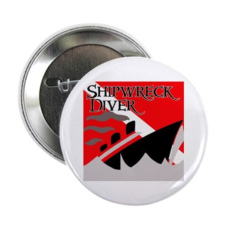 "Shipwreck Diver Flag 2.25"" Button (10 pack)"