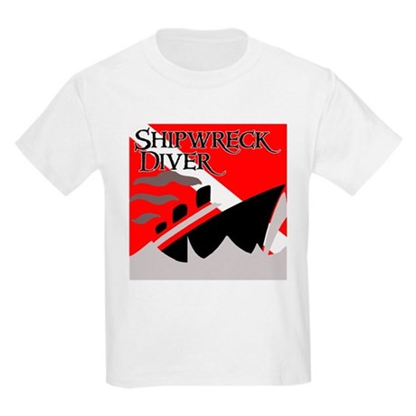 Shipwreck Diver Flag Kids Light T-Shirt
