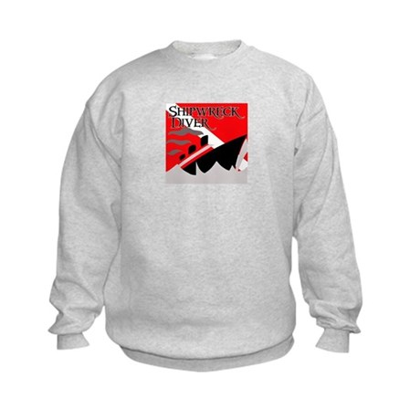 Shipwreck Diver Flag Kids Sweatshirt