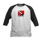 Shipwreck Diver Flag Kids Baseball Jersey