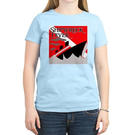 Shipwreck Diver Flag Women's Light T-Shirt