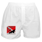 Shipwreck Diver Flag Boxer Shorts