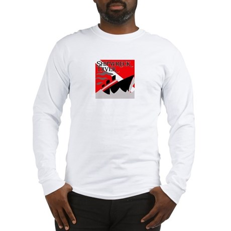 Shipwreck Diver Flag Long Sleeve T-Shirt