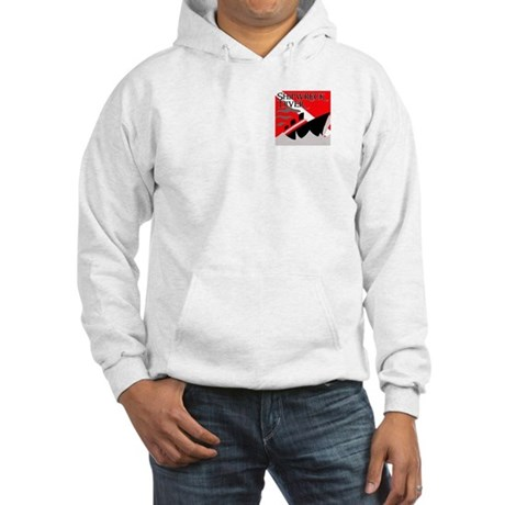 Shipwreck Diver Flag Hooded Sweatshirt